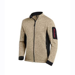 Strick-Fleece-Jacke Christoph Marke FHB in beige-schwarz